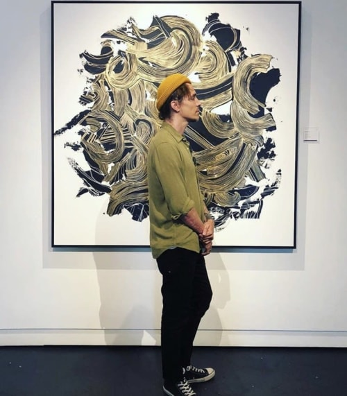 Paintings by Brandon Boyd seen at Cape Town, Cape Town - Atmosphere in Gold