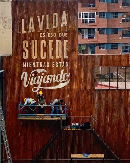 Murals by Walter A. Ferreyra seen at Selina Nueva Cordoba, Córdoba - Mural