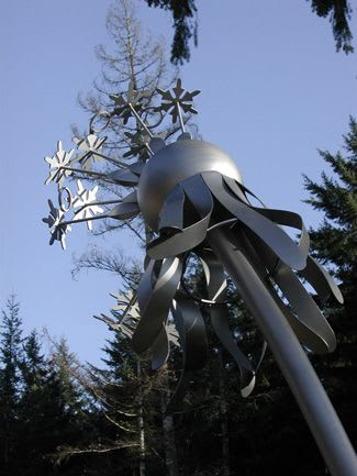 Public Sculptures by Gloria Bornstein seen at Olympic College - Shelton Campus, Shelton - Field of Wishes