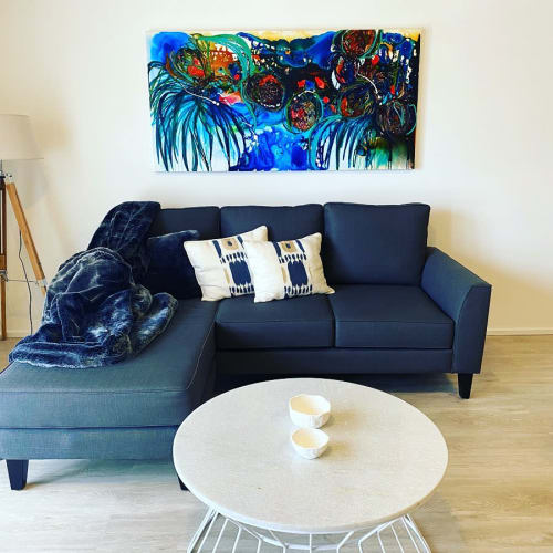 Paintings by Kerry Bruce seen at Private Residence, Kiama - Shades of Blue