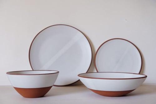 Ceramic Plates by Sarah Wolf seen at Portland, Portland - White Satin Dinnerware