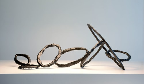 Sculptures by Corbin Bronze seen at Private Residence, North Miami - Axis Rings