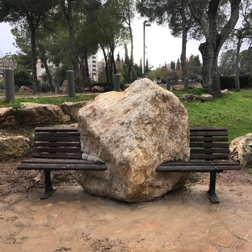 Public Sculptures by Michael Beitz seen at Jerusalem, Jerusalem - Stone Bench