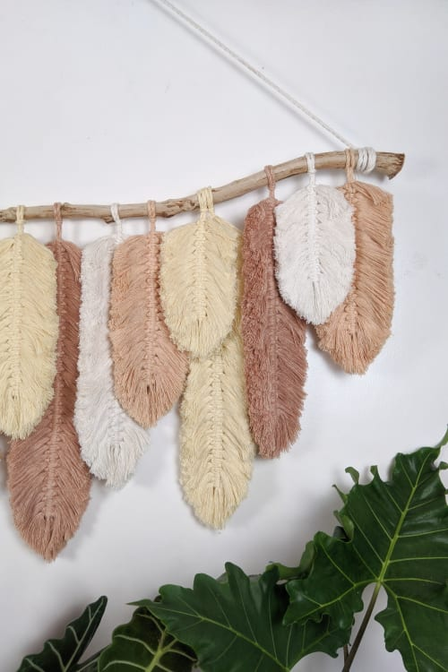 Macrame Feather Wall Hanging Decor   Macrame Wall Hanging by Macrame Boutique PH