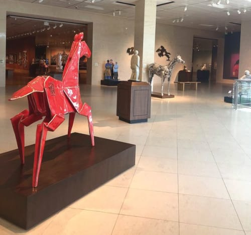 Public Sculptures by KevinBoxStudio. seen at Booth Western Art Museum, Cartersville - Pony - monument