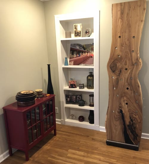 Furniture by Urbn Timber seen at Private Residence, Dublin - Elm Wine Rack