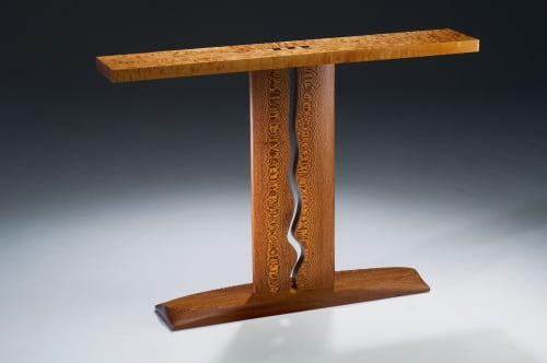 Tables by Michael Singer Fine Woodworking seen at Creator's Studio, Felton - Wave Entry Table