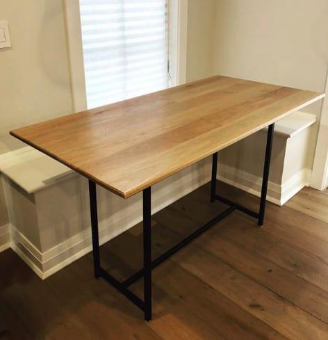 White Oak Kitchen Banquette Table On