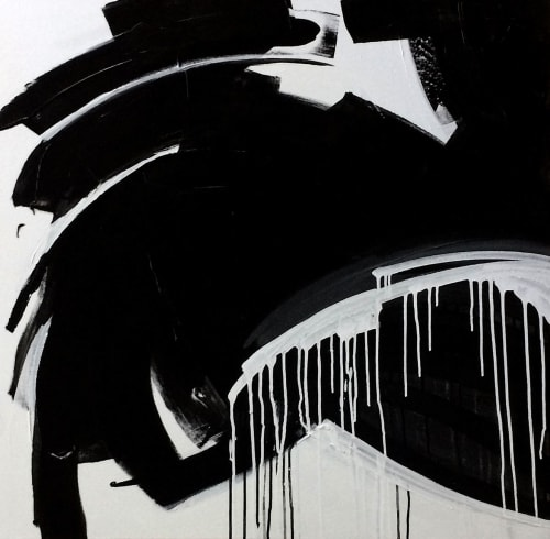 Paintings by Linnea Heide contemporary fine art seen at Private Residence, Sydney - 'PROMETHiUS' original abstract painting by Linnea Heide