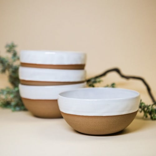 Ceramic Plates by Soul Matter Studio seen at Private Residence, Austin - Side Bowl