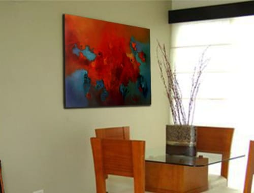 Paintings by Cecilia Arrospide seen at Private Residence - Lima, Peru, Lima - GARDEN II