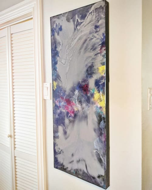 Paintings by Soulscape Art seen at Private Residence, Dallas - Custom Resin Installation