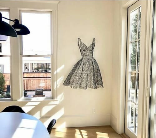 Sculptures by Kristine Mays seen at Private Residence, Kentfield - Dress Sculpture