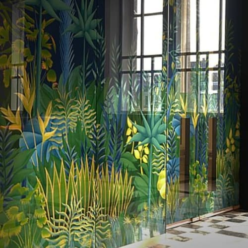 Art & Wall Decor by Sterling Studios seen at Selfridges & Co8455, London - Rousseau-esque eglomise panels to the interior of the International Services Lounge