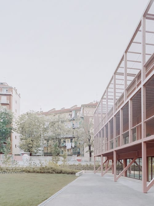 Architecture by BDR bureau seen at Turin, Turin - Fermi Secondary School