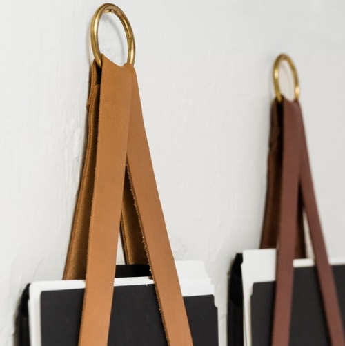 Hardware by Keyaiira | leather + fiber seen at Private Residence, Santa Rosa - Leather File Holder