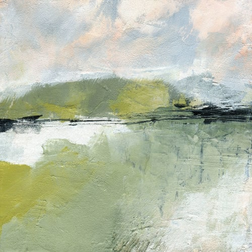 Paintings by Melanie Biehle seen at Creator's Studio, Everett - 2020 Abstract Landscapes