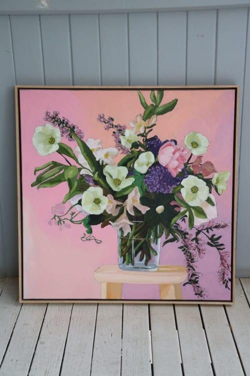 """Paintings by Kate Quinn Art seen at Creator's Studio, Brisbane - """"Flowers Vasette"""" print"""