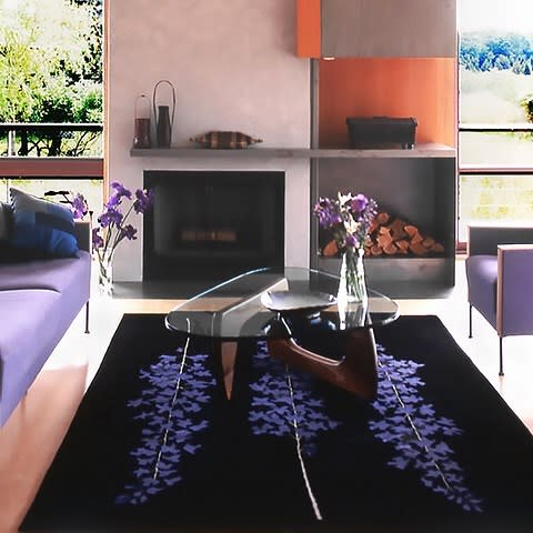 Rugs by Emma Gardner Design, LLC seen at Private Residence, Shelter Island - Delphiniums
