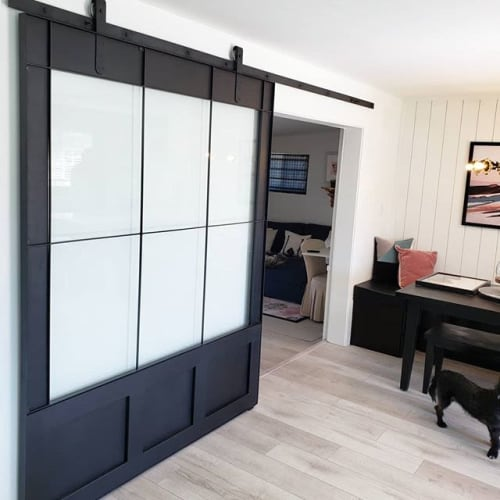 Furniture by Josh Makes seen at Private Residence, Phoenix - sliding door