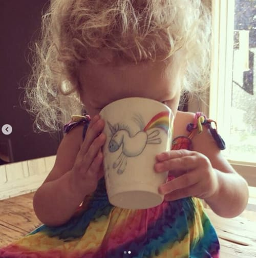 Cups by DeerField Pottery & Art Studio seen at Private Residence, London - Rainbow Farting Unicorn Mug