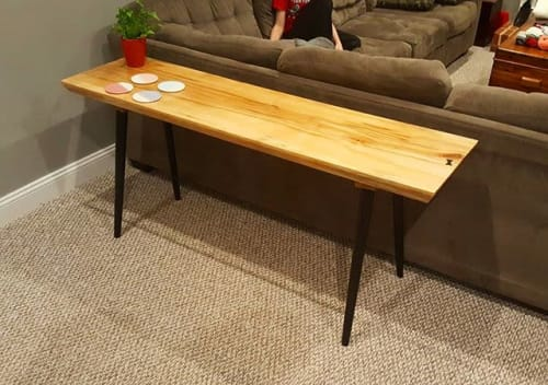 Tables by Brace and Bit: Furniture and Design seen at Private Residence, Haddonfield - Sofa Table