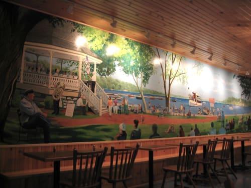 Murals by Elliott Mattice Art & Design seen at Skaneateles, Skaneateles - Mural at Doug's Fish Fry
