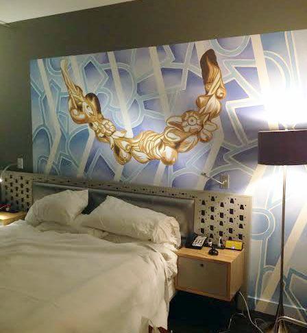Murals by Natalie Fisk seen at NU Hotel, Kuala Lumpur - Murals