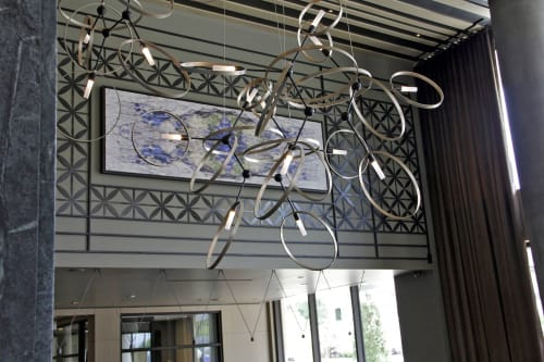 Paintings by Organik Creative at The McAdams Apartments, Houston - Kaleidoscope Canvas