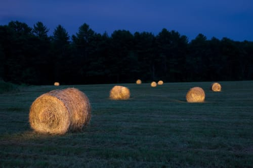 Photography by Chris Becker seen at Private Residence, New York - Twilight Over Atantic #10,  Hay Bales #8