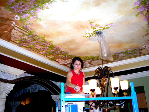 Murals by Murals by Georgeta (Fondos) seen at Private Residence - Fort Lauderdale, FL, Fort Lauderdale - Mural on Ceiling