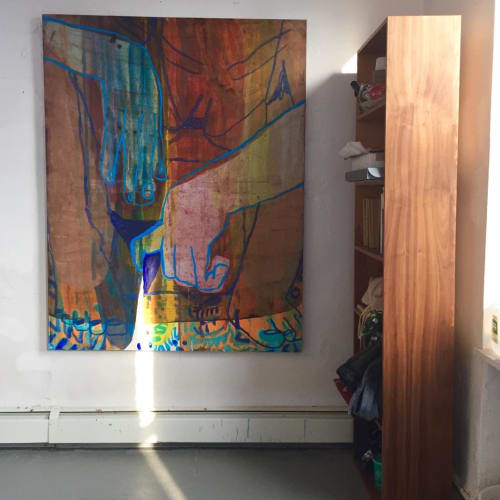 Paintings by Sarah Faux seen at Private Residence, Shanghai - Abstract Painting