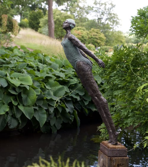 Public Sculptures by Dawn Conn Sculpture seen at RHS Garden Wisley, Wisley - Diving into the ocean of life