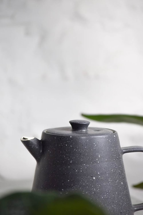 Tableware by Stone + Sparrow seen at Private Residence, Pittsburgh - Granite teapot