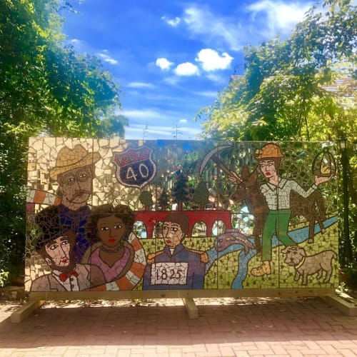 Public Mosaics by Laura Jean Mclaughlin seen at Century Inn, Scenery Hill - Mosaic Mural