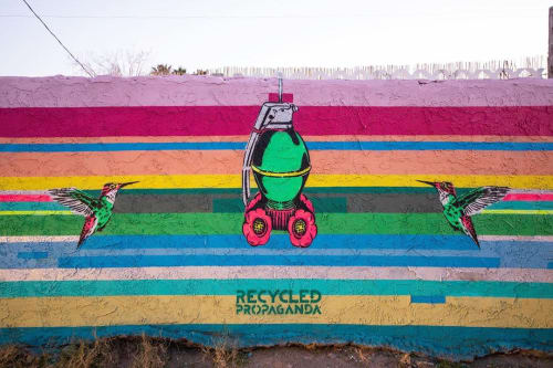 Street Murals by Recycled Propaganda seen at Las Vegas, Las Vegas - Fatal attraction