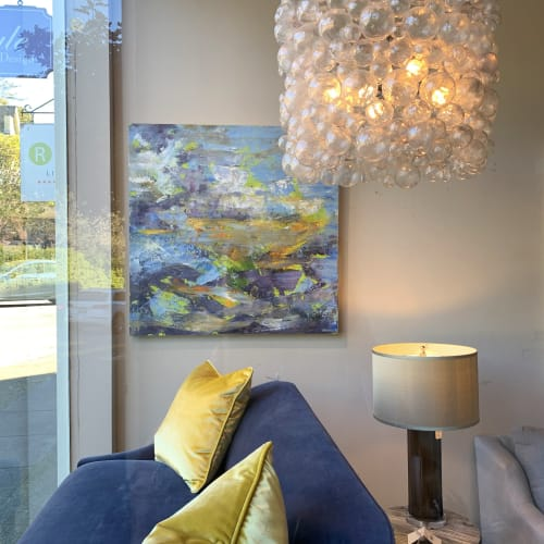 Paintings by Stephanie Thwaites seen at Ruby LivingDesign, Mill Valley - Where the Blue of the Sea Meets the Sky