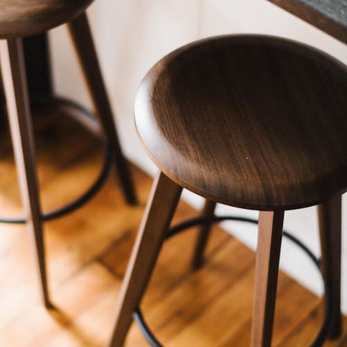 Chairs by Greenington seen at Private Residence, Des Moines - Mimosa stools