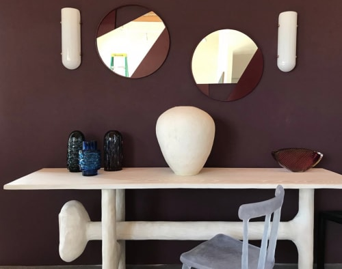 Sconces by Bianco Light + Space seen at The Future Perfect, New York - Selene Sconce