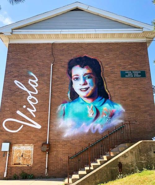 Street Murals by Princefuze seen at Mulgrave Park, Halifax - Viola Desmond Mura