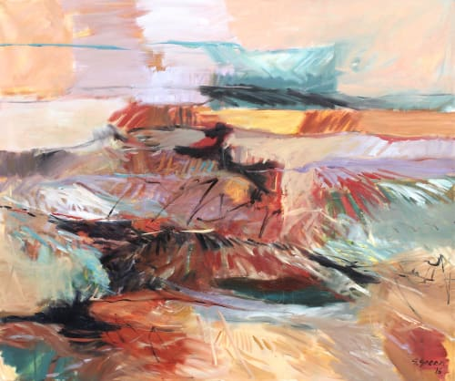 Paintings by Simona Gocan seen at Central Arts Plaza, Phoenix - Windy Day