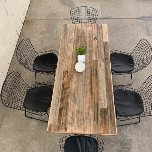 Tables by The Timber Shack seen at Private Residence, Melbourne - Rustic Dining Table