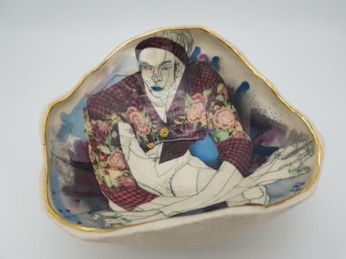 Ceramic Plates by Yurim Gough seen at Cambridge, Cambridge - Well!