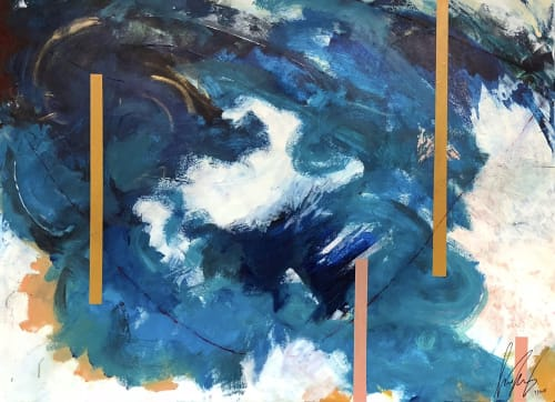 Paintings by Sharone Halevy seen at Private Residence, New York - Confusion.Calm|Sea.Wind