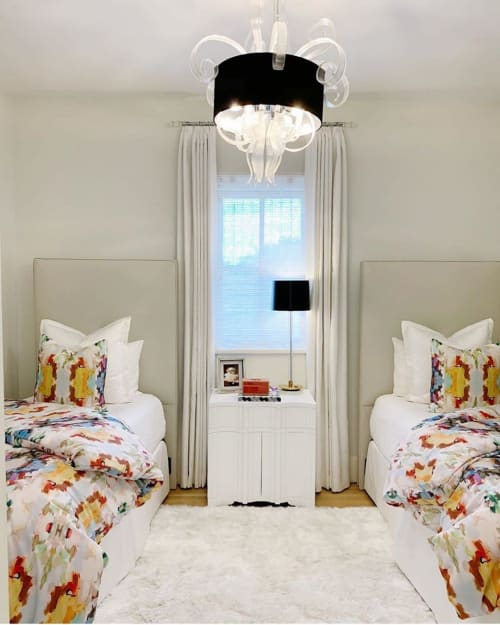 Linens & Bedding by Laura Park Designs seen at Private Residence, Austin - Shams and duvets