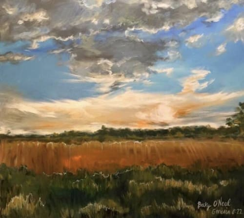 Paintings by Becky O'Neal seen at Private Residence, Baton Rouge - Harvest Fields