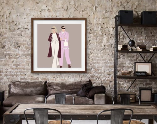 Paintings by By Lauren P seen at Private Residence, Toronto - Fashion Print
