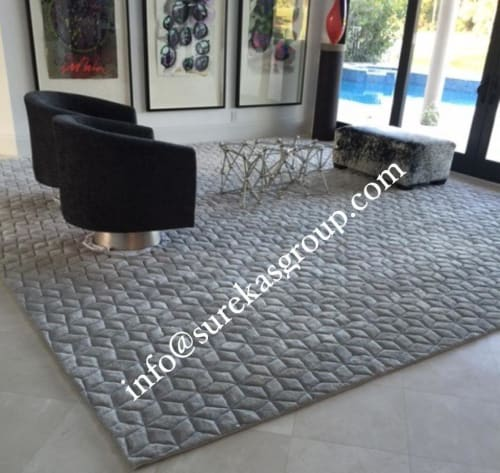Rugs by Global Floor Furnishers seen at Private Residence - Hand-tufted wool viscose rug