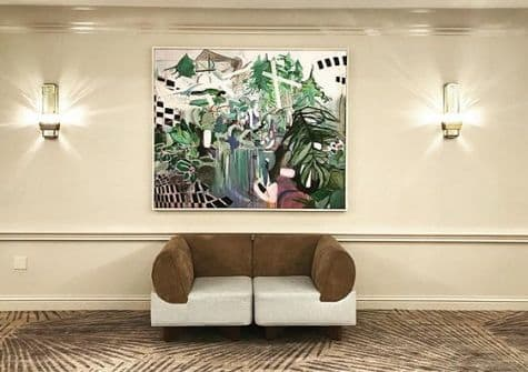 Paintings by Gulyas Edina seen at JW Marriott Miami, Miami - Print of my original (Pool)