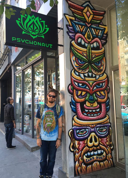 Murals by Chris Dyer seen at Psychonaut, Montreal - Psychonauts Totem